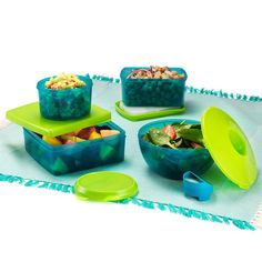 Avon Living 13-Piece Food Cooling Storage Set. Packing up the perfect beach spread or your lunch for the day just got that much easier with these nifty, vibrant containers.