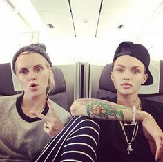 """When they posted this """"Bonnie and Clyde"""" airplane selfie."""