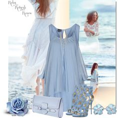 Blue for You by stephiebees on Polyvore featuring moda, PF Paola Frani, Giuseppe Zanotti, Alexander McQueen and Free People