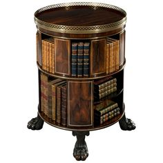 Regency Circular Free Standing Bookcase | From a unique collection of antique and modern bookcases at http://www.1stdibs.com/furniture/storage-case-pieces/bookcases/