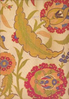vvv short sleeved kaftan with a design of saz leaves and blossoms, mid 16th century