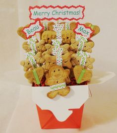 Holiday treat gift basket for pets. #dogs #ilovemydog #pets #gifts #Christmasgift