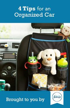 Follow our 4 tips to keep your car organized and driving enjoyable! Between chauffeuring kids around, running errands and commuting to work we spend a lot of time in the car so make the most of it!
