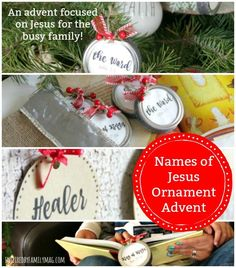 Simple & Fun Names of Jesus Christmas Ornaments Advent Calendar - This advent calendar is perfect for the busy family who wants to keep Christ in Christmas! Christmas Tree Ring, Christmas Candles, Christmas Books, Christmas Music, Xmas, Nordic Christmas, Modern Christmas, Family Christmas, Christmas Stockings