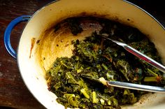 Pot-Roasted Collard Greens (photo: courtesy of Tom Hirschfeld)