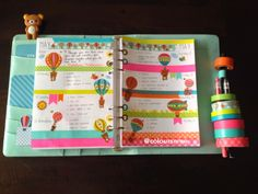 Coloursnme: Kikki.K Planner :: Hot Air Balloons & Rilakkuma Inspired