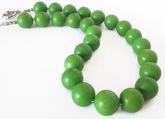 Green Turquoise Necklace by PolishedPlum, $38.00