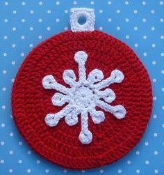 Snowflake Ornament Potholder Crochet PATTERN by bearsy43 on Etsy, $2.50