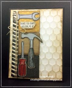 Stampin' Up! Nailed It. Masculine Card