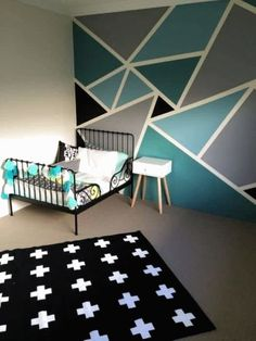 room wall paint design ideas wall painting designs wall paint patterns paint design ideas best wall paint patterns ideas on wall Bedroom Paint Design, Boys Bedroom Paint, Bedroom Wall Designs, Boy Bedrooms, Girls Bedroom, Bedroom Decor For Couples, Home Decor Bedroom, Boys Bedroom Colors, Best Wall Paint