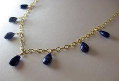 Badakhshan Blues Lapis Lazuli and Gold by BijouxTricotage on Etsy, $54.00