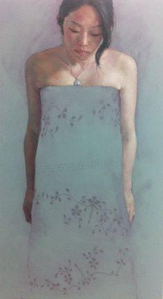 Jennifer Anderson 'Observance' Oil on Canvas 56 x 101 cm. Painting People, Figure Painting, Painting & Drawing, Kunst Online, Ap Studio Art, Body Figure, Face Art, Art Faces, Elements Of Art