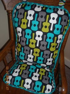 Groovy Guitars Rocking Chair Pad Highchair Cushion
