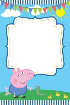 George Pig Pin the Tail Game-20 Players A3 size,Baby Shower,Birthdays Peppa Pig