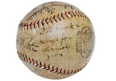 Grey Flannel AuctionsA baseball made famous by Babe Ruth's promise to an 11-year-old boy will be put up for sale.