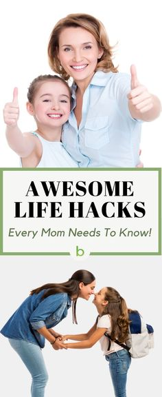 Awesome life hacks for moms! Our list of the best mom hacks around - simple, useful, tips to help with everything from parenting, to health, traveling, DIY, money saving, cooking, organizing, and MORE.  Check it out and prepare to have your mind blown! #beenke #lifehacks #momhacks | Parenting hacks, life hacks for women and kids