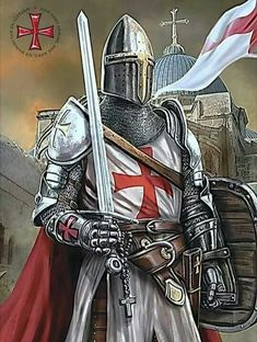 Medieval Knight, Medieval Armor, Guerrero Tattoo, Knights Templar History, American Flag Wallpaper, English Knights, Remembrance Day Art, Silver Knight, Knight Tattoo