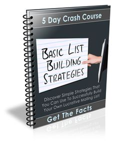Basic List Building Strategies  http://dutchaffiliate.com/basic-listbuilding/