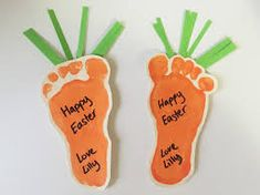 First Easter craft ideas - little carrot magnets using baby foot prints! - First Easter craft ideas – little carrot magnets using baby foot prints! La mejor imagen sobre he - Easter Crafts For Toddlers, Daycare Crafts, Easter Crafts For Kids, Baby Crafts, Toddler Crafts, Crafts To Do, Diy For Kids, Easter Ideas, Easter For Babies