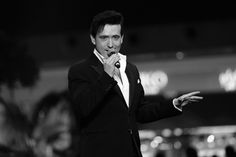 Image has been converted to black and white.) Carlos Marin of Il Divo during the Grand Opening of The Mall of Qatar at Mall of Qatar on April 8, 2017 in Doha, Qatar.
