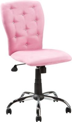 Lucille Pink Desk Chair