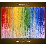 Rainbow Falls LGBT Wall Painting Gay Lesbian Queer Rainbow