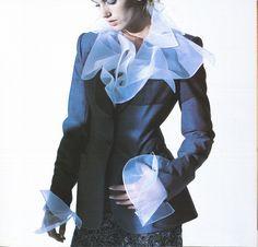 Bill Blass 1990s: Protruding frills from jacket