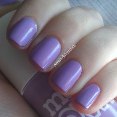 Loving this nail polish at the moment, Models Own Pro - Lilac (ps nails are not mine in the pic)