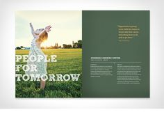 People Fund - Graphic Design by Make & Matter Graphic Design Layouts, Brochure Design, Layout Design, Print Design, Web Design, Report Layout, Brochure Inspiration, Design Inspiration, Annual Report Design