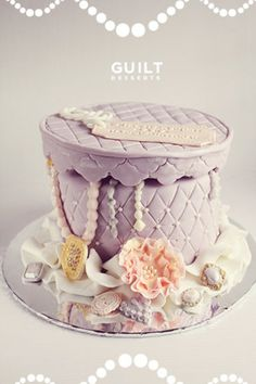 Pretty Jewelry Box Birthday Cake - by guiltdesserts @ CakesDecor.com - cake decorating website