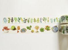 Botanical - Herb Succulent Washi Tape // MT Washi Tape