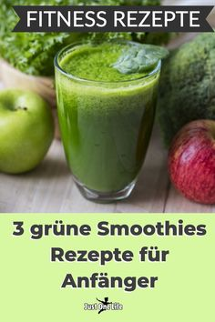 Fitness recipes: 3 green smoothies recipes for beginners - Green smoothie recipes are simple fitness recipes for a holistic diet and healthy weight loss. They stimulate the metabolism in supporting your diet. Smoothie Legume, Smoothie Detox, Smoothie Prep, Green Smoothie Recipes, Healthy Smoothies, Fitness Smoothies, Strawberry Smoothie, Healthy Detox, Healthy Fruits