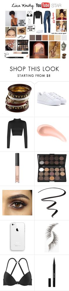 Liza Koshy - YouTuber Star by marty-97 on Polyvore featuring moda, WearAll, adidas, NARS Cosmetics, Stila, Beauty Is Life, L'Oréal Paris, G-Star Raw and Again