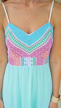 Maxi Dresses : Pretty Pastels Maxi Dress