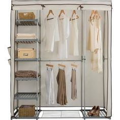 "reasonable ""for the time being"" wardrobe. Buy Metal and Polycotton Triple Wardrobe - Cream at Argos.co.uk - Your Online Shop for Wardrobes."