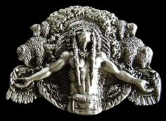 North American Native Indian Chief Western Belt Buckle #Coolbuckles #Western