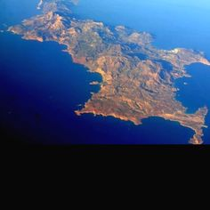 Karpathos island Greece.. how much i loved to fly with the airplane and see it like that.