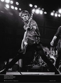 Paul Simonon of The Clash on stage in Boston, 1979