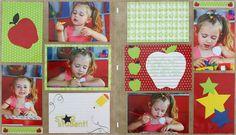 Cheerful School Photo Album Accent Scrapbook Page Ideas
