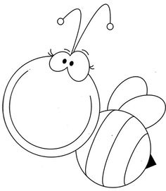 Bee -coloring page