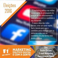 O marketing político nas mídias sociais é uma oportunidade da campanha fornecendo o melhor retorno que você poderia conseguir.    #MarketingPolitico #MarkeringPoliticoDigital #Eleiçoes2016    (37) 3016-3133  atendimento@f1mktdigital.com.br  Rua Pernambuco, 2301, Ipiranga - Divinópolis/MG