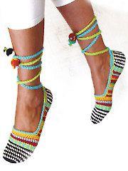 Crochet Patterns - Happy Scrap Slippers