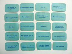 De kaartjes van Pim Pam Pet kun je ook los inzetten: schrijf je antwoord maar op!