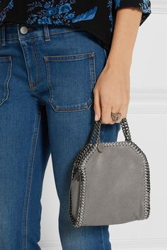 274a30b638 Stella McCartney - The Falabella tiny faux brushed-leather shoulder bag