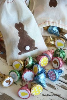 DIY Bunny Kisses Easter Gift ~ I like the BUNNY Stencil ~