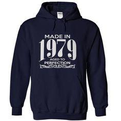 Made in 1979 - Aged to perfection - #tshirt stamp #swetshirt sweatshirt. LOWEST PRICE => https://www.sunfrog.com/Birth-Years/Made-in-1979--Aged-to-perfection-NavyBlue-eine-Hoodie.html?68278