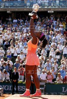 French Open Tennis - Roland Garros 2015 Day Fourteen Roland Garros, Paris, France - 6 Jun 2015 Serena Williams of USA celebrates winning the Ladies Title, her 20th Grand Slam, at Roland Garros, 2015 6 Jun 2015