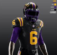 Future LSU Football Uniform