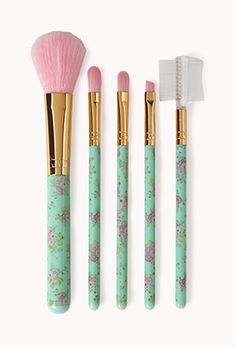 Yeah, I have MAC, Chanel, and Lancome brushes, but these are so cute, and apparently they're decent brushes!