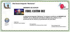 Martianos. Fidel Castro Ruz. Miembro de Honor.